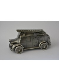 Fire Engine Money Box - Pewter