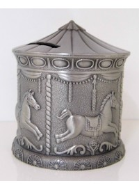 Carousel Money Box - Pewter