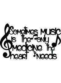 Music is the only medicine the heart needs