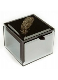 Mirrored Trinket Box, Feather